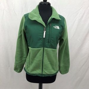 The North Face Small Green Fleece Jacket Two Tone